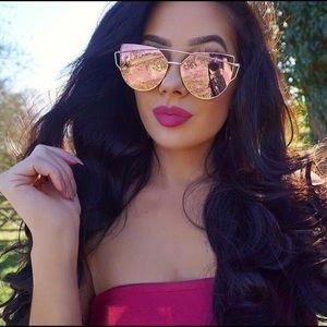 Accessories - 🦋 Cat Eye Rose Gold Sunglasses 🆕
